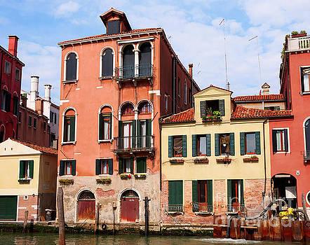 Houses near Campo San Giovanni e Paolo in Castello Venice Italy by Louise Heusinkveld