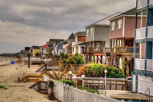 Houses on Garden City Beach by TJ Baccari