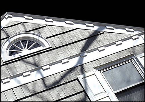 Housetop with Shadow by Rhea Malinofsky