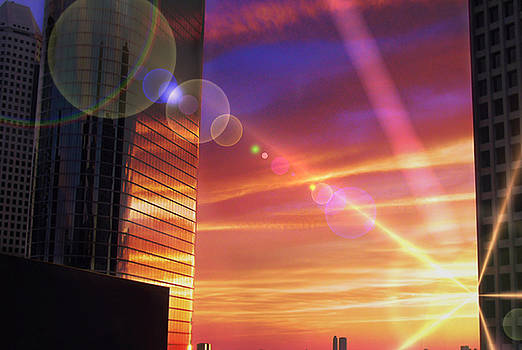 Karen Musick - Houston Skyline A Modern City