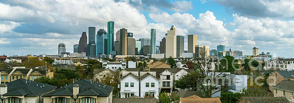 Houston Texas Panorama by Cindy Tiefenbrunn
