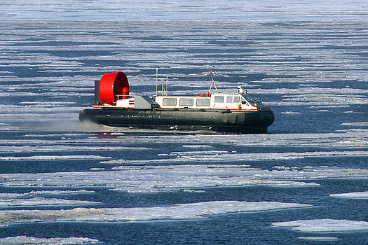 Anthony Jones - Hovercraft on Frozen Artic Ocean