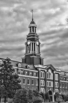 Sharon Popek - Howard J Baker Courthouse Clock Black and White