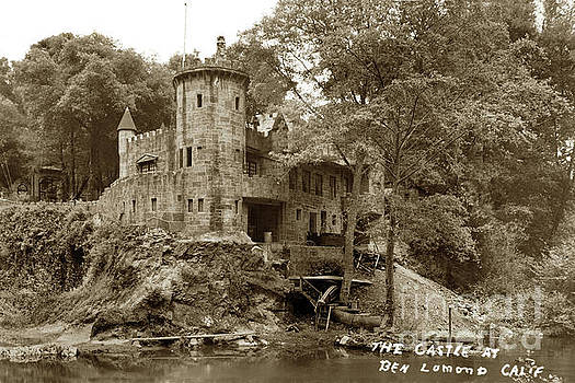 Howden's Castle, Ben Lomond Calif. Circa 1950 by California Views Mr Pat Hathaway Archives