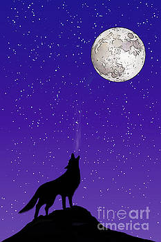 Howl at the moon by John Edwards