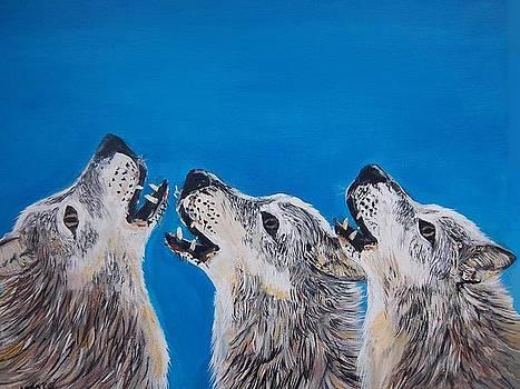 Howling Trio by Aleta Parks