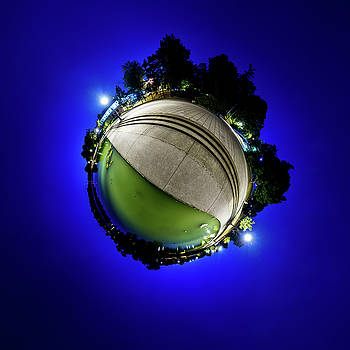 Chris Bordeleau - Hoyt Lake at Delaware Park - Tiny Planet