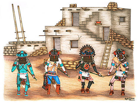 Hu Kachinas by Lavelle Mahle