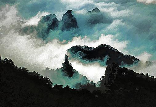 Dennis Cox - Huangshan Swirling Clouds