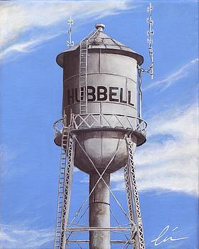 Hubbell Water Tower Ne by Cindy D Chinn