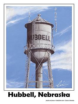 Hubbell Water Tower Poster by Cindy D Chinn