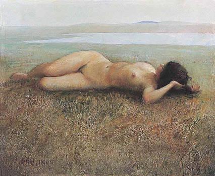 Hude On Grassland by Ji-qun Chen