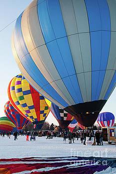 Hudson Hot Air Balloon Festival 2018 All Lined Up by Wayne Moran