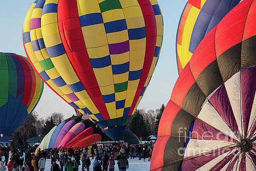 Hudson Hot Air Balloon Festival 2018 Look At The Colors by Wayne Moran