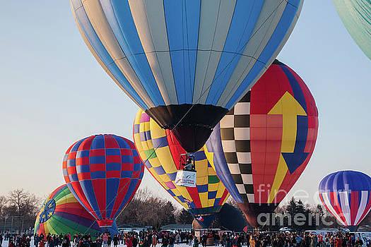 Hudson Hot Air Balloon Festival 2018 Perfect Morning by Wayne Moran