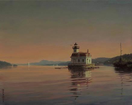 Hudson River Lighthouse by Barry DeBaun