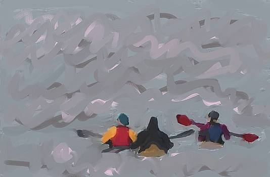 Hudson River Paddlers by Harry Spitz