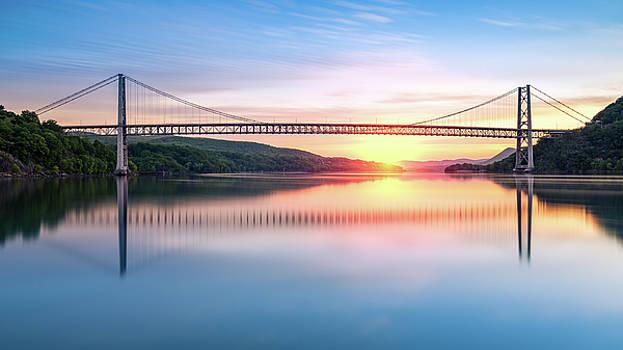 Hudson River sunrise by Mihai Andritoiu