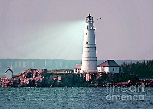 Hues of Boston Light by Lori Pessin Lafargue