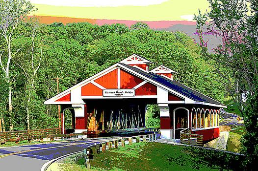 Hueston Woods covered Bridge by Charles Shoup