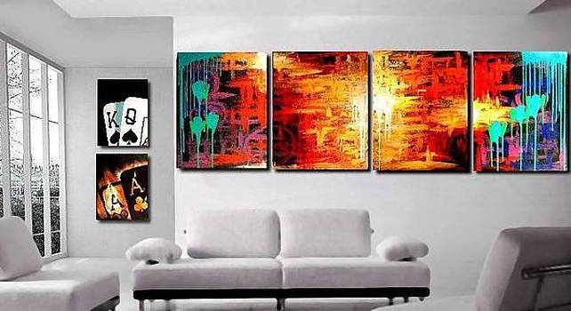 Huge Colorful Abstract by Teo Alfonso