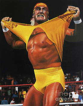 Hulk Hogan Oil on Canvas by David Rives