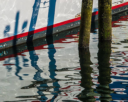Hull Reflection - Piling Shadows by George Salter