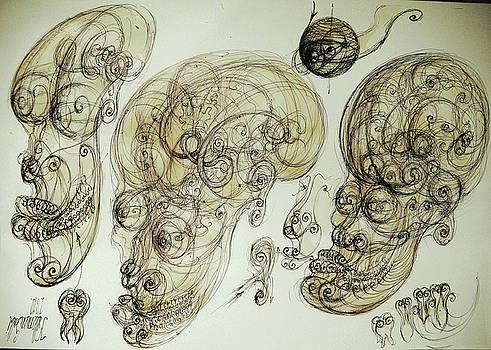 Human vortex head by Gabriel Kelemen