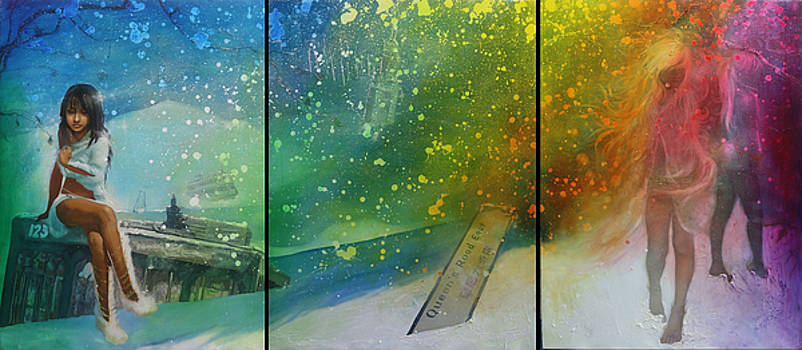 Humanity - Merode altaarstuk by Michael Andrew Law