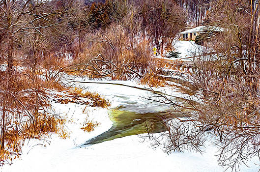 Humber River Winter 5 - Paint by Steve Harrington