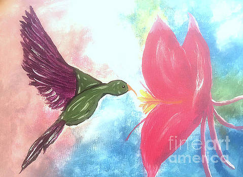 Humming Bird  by Deborah MacQuarrie-Selib