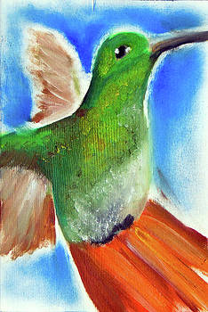 Hummingbird 63 by Loretta Nash