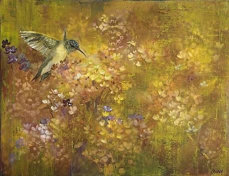 Hummingbird and Hydrangeas by Judy Osiowy