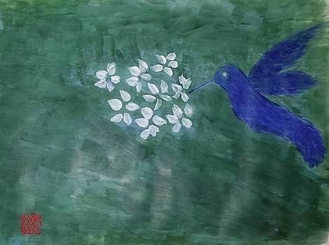 Hummingbird and the Lily Pads by Margaret Welsh Willowsilk