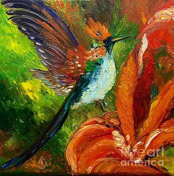 Hummingbird by Irene Pomirchy