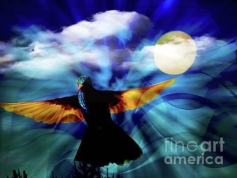 Hummingbird Moon III by Al Bourassa