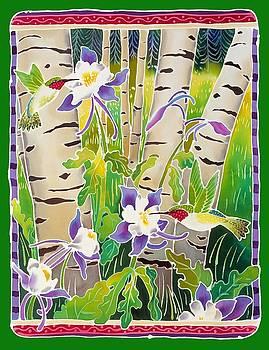 Harriet Peck Taylor - Hummingbirds in the Aspen