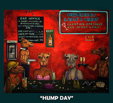 Leah Saulnier The Painting Maniac - Hump Day with Lettering
