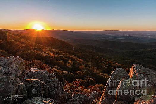 Humpback Rocks Sunset in Fall by Jeffrey Stone