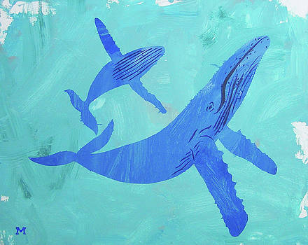 Humpback Whales by Candace Shrope