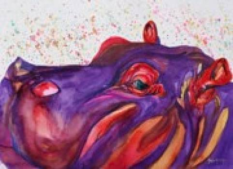 Humphrey the Hippo by Gayle  George