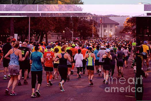 Herronstock Prints - Hundreds of Marathon runners take to the course at the Austin Marathon and Half Marathon in downtown Austin Texas