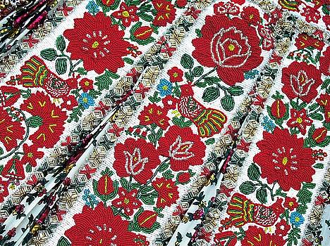 Hungarian Beaded Emboidery from Kalotaszeg Photograph Print by Andrea Lazar
