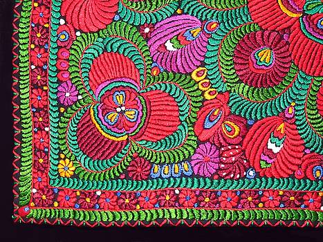 Hungarian Magyar Matyo Folk Embroidery  by Andrea Lazar