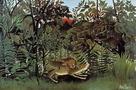 Henri Rousseau - Hungry Lion