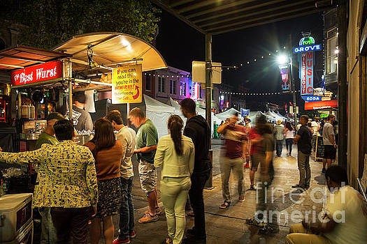 Herronstock Prints - Hungry sixth street patrons stop at one of the many food options
