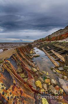 Hunstanton shipwreck by Steev Stamford