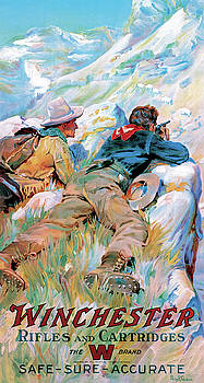 Hunters And Mountain Goats by Philip R Goodwin