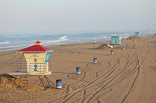 Art Block Collections - Huntington Beach Lifeguard Towers
