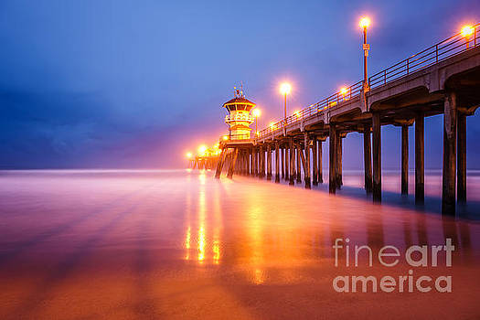 Huntington Beach Pier at Sunrise by Paul Velgos